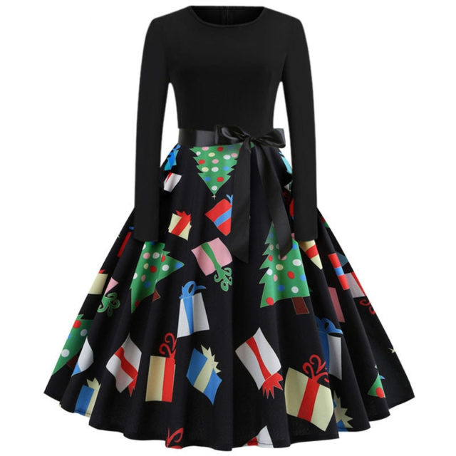 Women's Christmass Styled Swing Dress