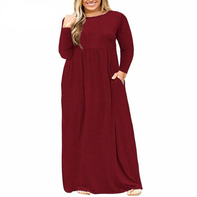 Women's Plus Size Vintage Draped Dress