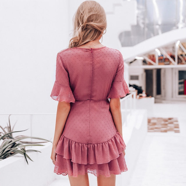 Bohemian Chiffon Dark Pink Dress