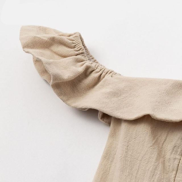 Women's Off Shoulder Ruffled Midi Dress