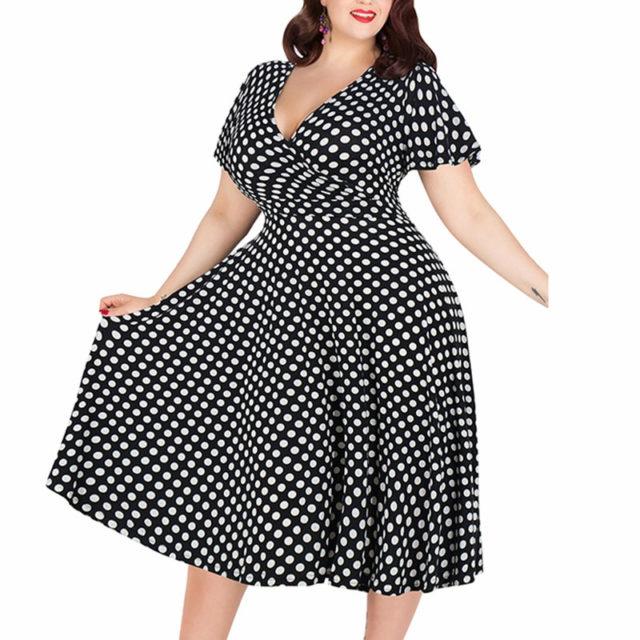 Women's V-Neck Droped Mid Dress