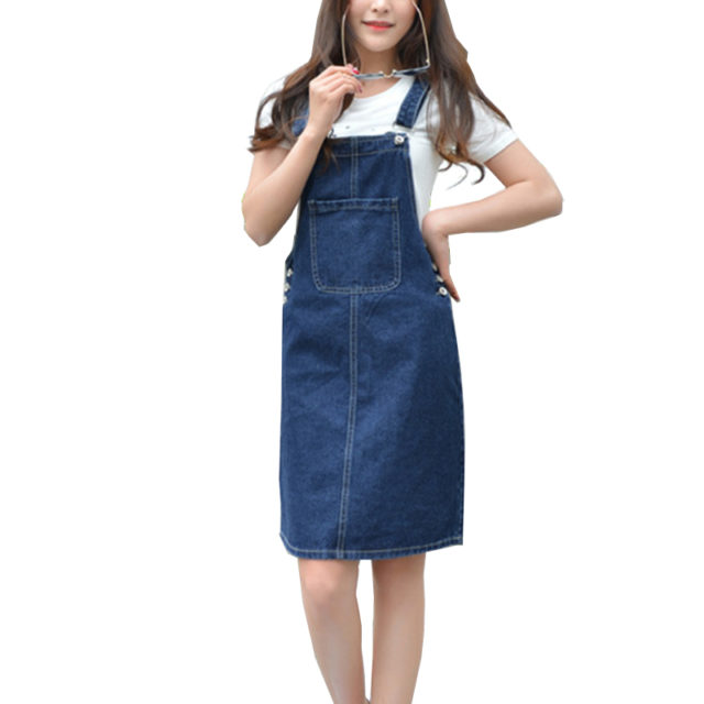 Casual Loose Overalls Dress