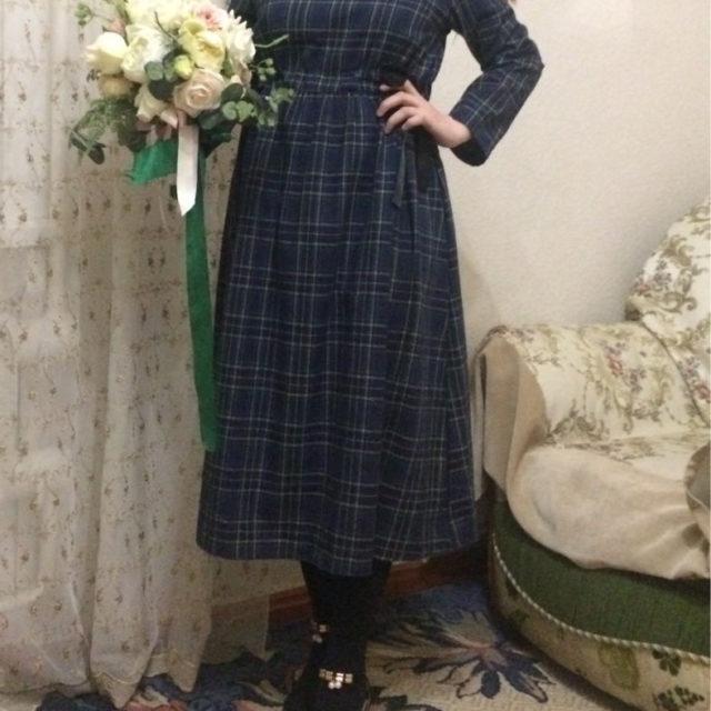 Plaid Linen Women's Mori Dress