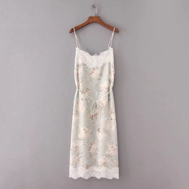 Women's Elegant Sleeveless Dress with Floral Print