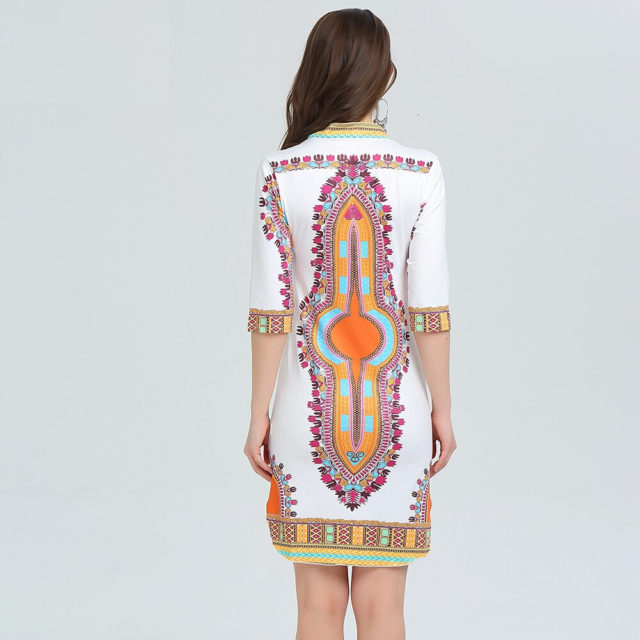 Women's Casual Boho Printed Dress