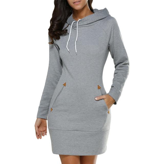 Women's Sport Style Hooded Dress
