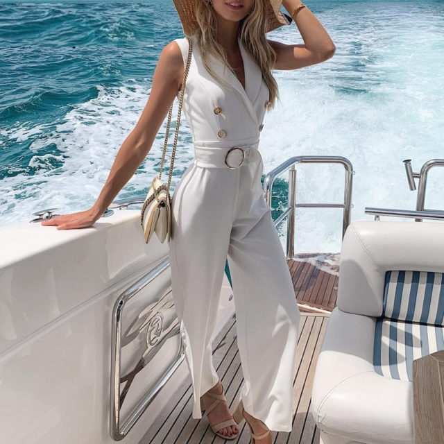 Classic Jumpsuit with Sashes