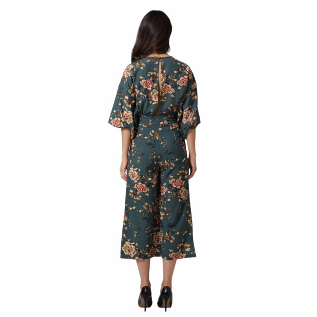 Women's Floral Patterned Jumpsuit