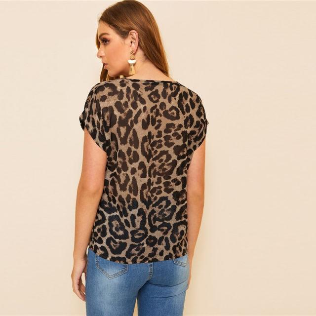Women's Leopard Printed Top