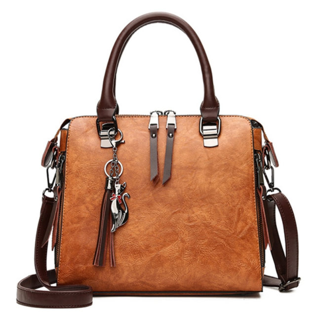 Women's Casual Leather Tote Handbag