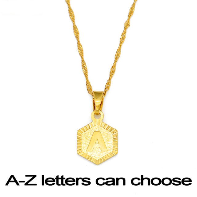 Women's Letter Pendant Necklace