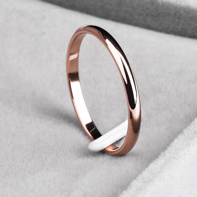 Titanium Steel Simple Design Ring for Woman